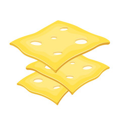 Slice cheese for a sandwichburgers and vector