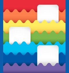 square banners on rainbow background vector image