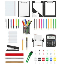 stationery set 01 vector image