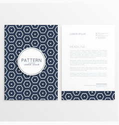 stylish letterhead design with hexagonal pattern vector image