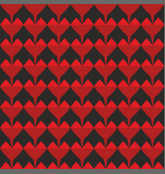 tile pattern with red and black background vector image