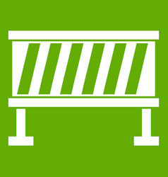traffic barrier icon green vector image