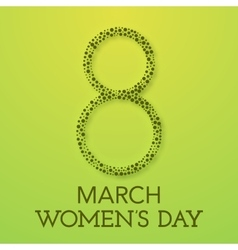 Trendy Design Template Womens day vector image