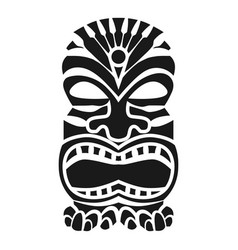 Tribal mask idol icon simple style vector