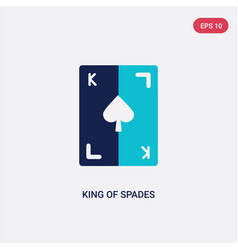 two color king spades icon from gaming concept vector image