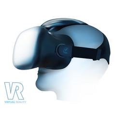 Virtual reality glasses headset vector