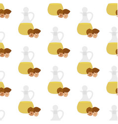 walnuts oil seamless pattern vector image