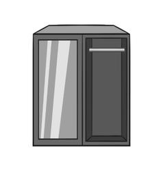 Wardrobe icon black monochrome style vector
