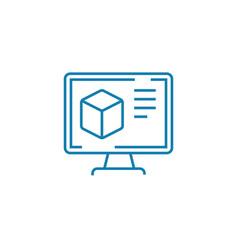 website design linear icon concept website design vector image