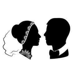 Wedding silhouette 11 vector