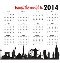 World calendar vector