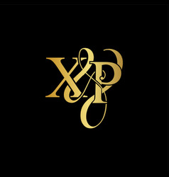 xp x p logo initial mark vector image