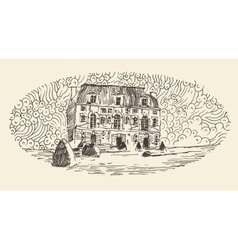 French Province Wine Label Menu Vintage Engraved vector image vector image
