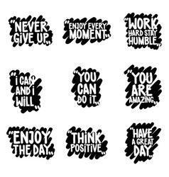 handwritten quote set vector image