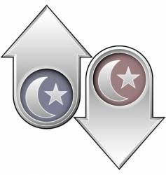 islam directional arrows vector image vector image