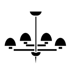 light lamp ceiling bra icon vector image