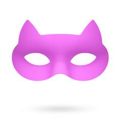 rose cat masquerade eye mask vector image