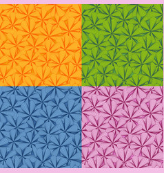set of four seamless floral pattern vector image
