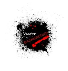 Black ink blots background vector image