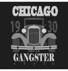 Chicagol t-shirt graphic design Gangster style vector image vector image