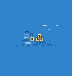 Coffee ship vector image