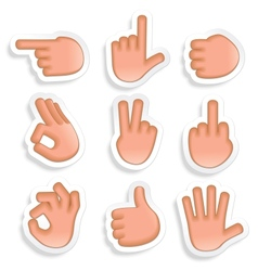 Hand Gestures Icon Set 2 vector image vector image