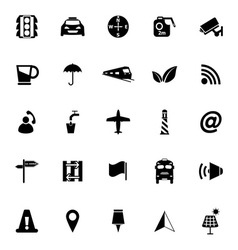 Map sign icons on white background vector
