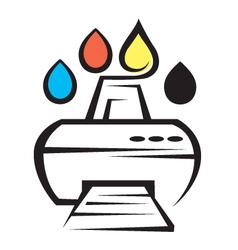 Printer icon vector