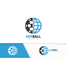 soccer and planet logo combination ball vector image