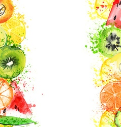 Watercolor fruits vector image