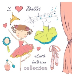 ballerina and accessories vector image