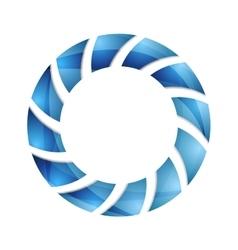 Blue abstract concept circle logo design vector