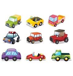 Car toys vector image