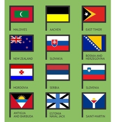 Flags flat set-12 vector image vector image