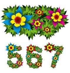 flowers alphabet 11 vector image vector image