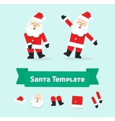 Funny dancing santa claus isolated father vector image vector image