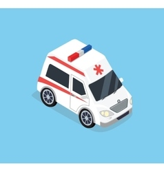 Isometric Ambulance Car vector image vector image