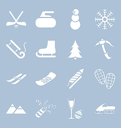 Many icons winter holiday vector image vector image
