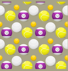 sport balls seamless pattern background tournament vector image