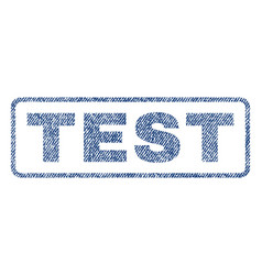 test textile stamp vector image vector image