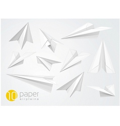 10 paper airplains vector image vector image