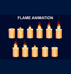 Burning candles set vector