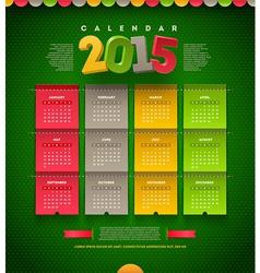 Calendar of 2015 vector image vector image