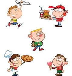 Cartoon pizza boy vector image vector image