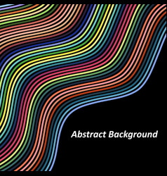 optical art background colorful wave design vector image