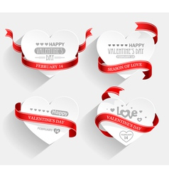 Valentines Day emblems vector image vector image