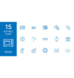 15 image icons vector