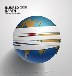 Bandaged Earth vector