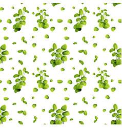 Beautiful leaf on seamless pattern vector