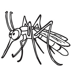 Black and white mosquito vector